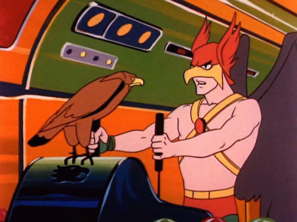 """Hawkman got his own shorts, coincidentally while rival network NBC were airing their own """"Birdman""""."""