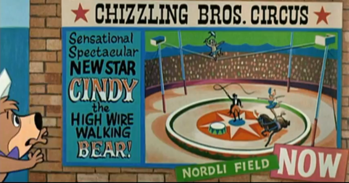 Cindy, held against her will, becomes the new highlight of the circus, until Yogi and Boo Boo are able to rescue her.