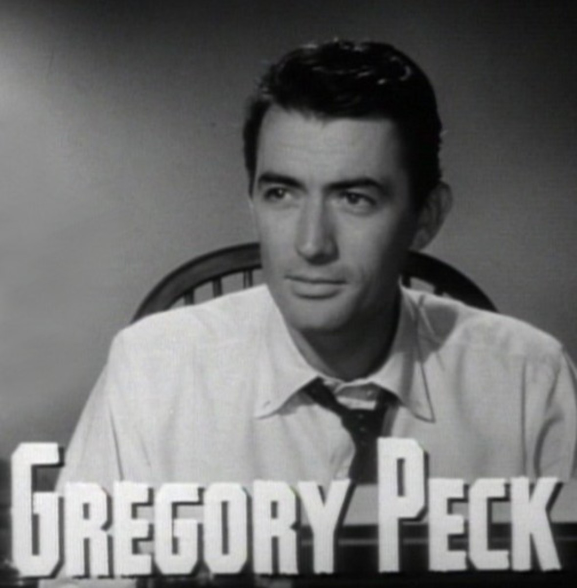 Gregory Peck in a screenshot from the trailer for the 1947 film Gentleman's Agreement