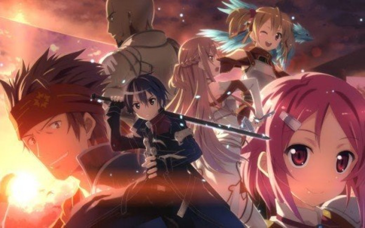 "Main characters in the ""Sword Art Online"" story arc"