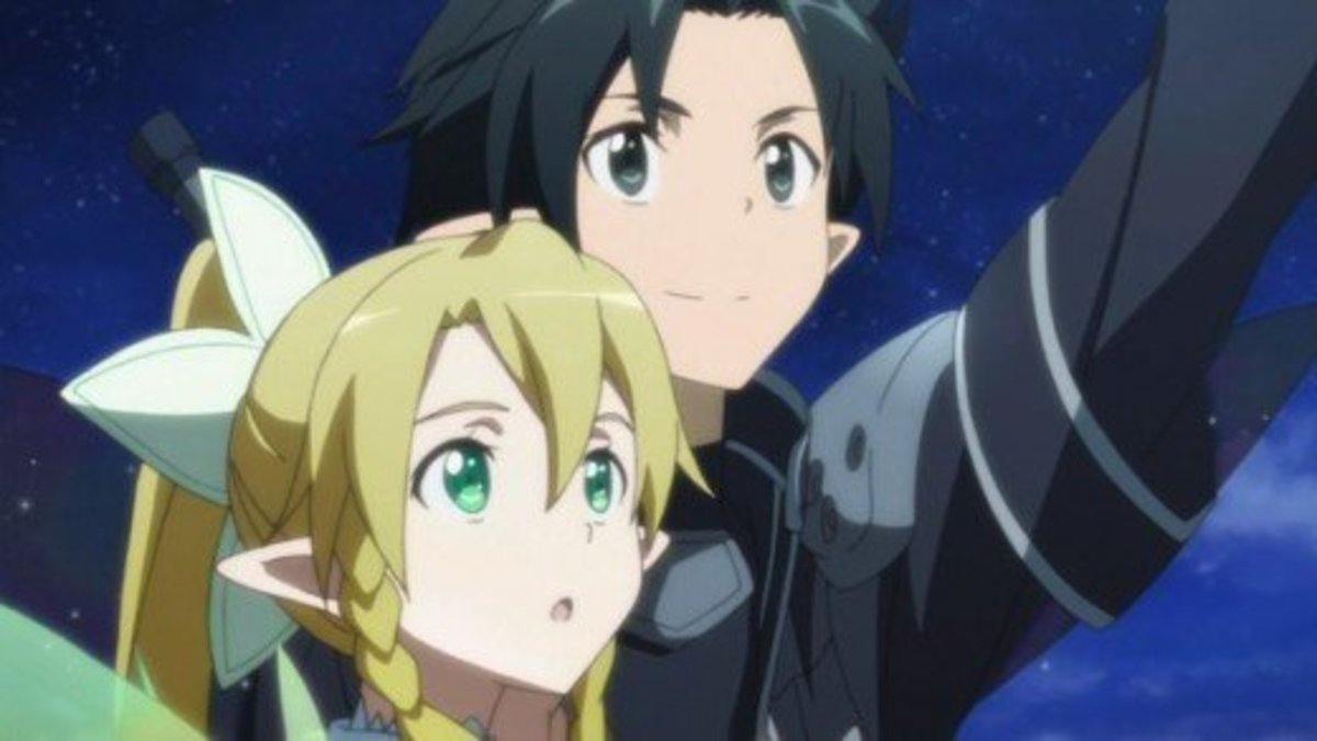 "Kirito and Suguha (Leafa) in ""ALfheim Online"""