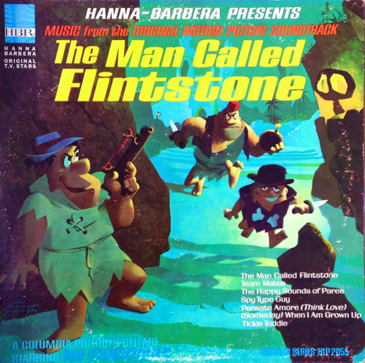 The cover to the vinyl record of the soundtrack.