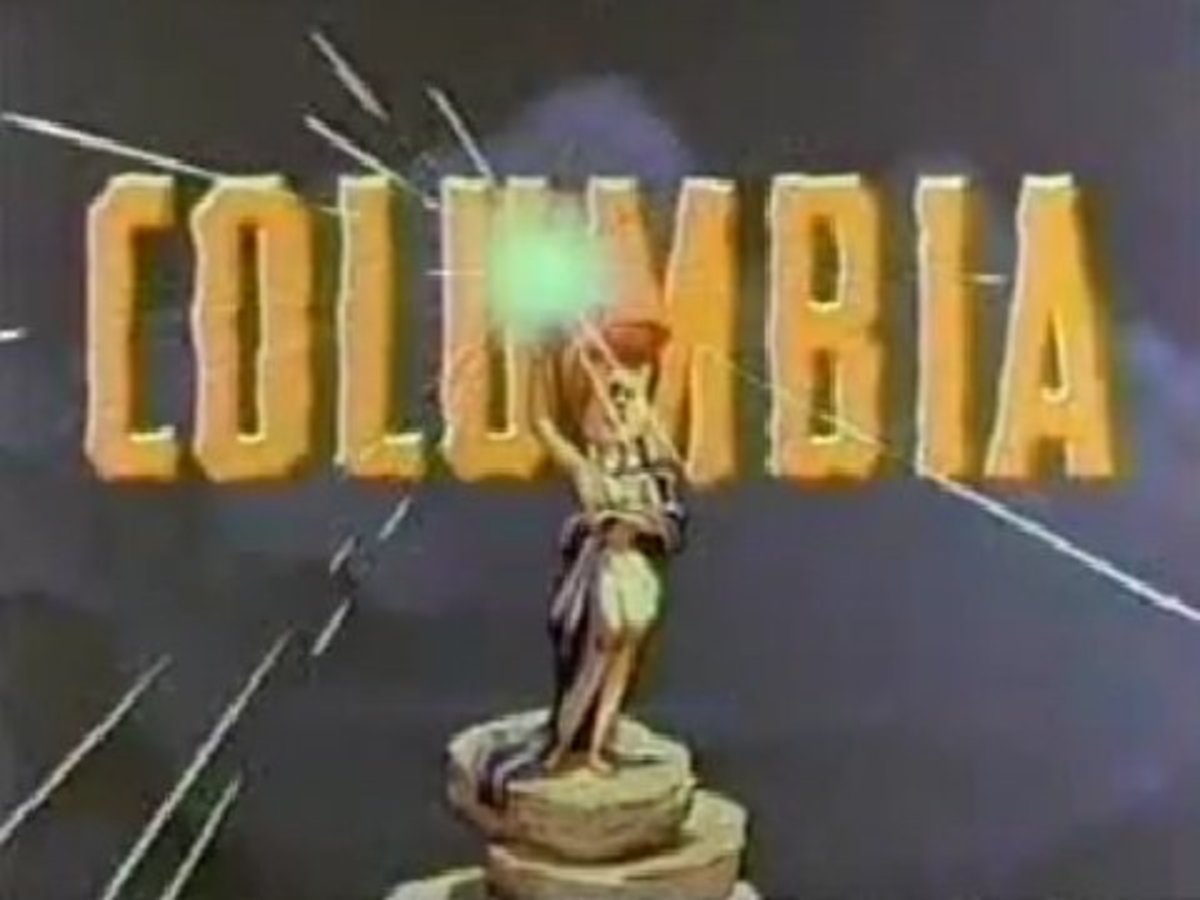 Wilma dressed as Columbia, seen in the original theatrical release but cut from more recent prints.