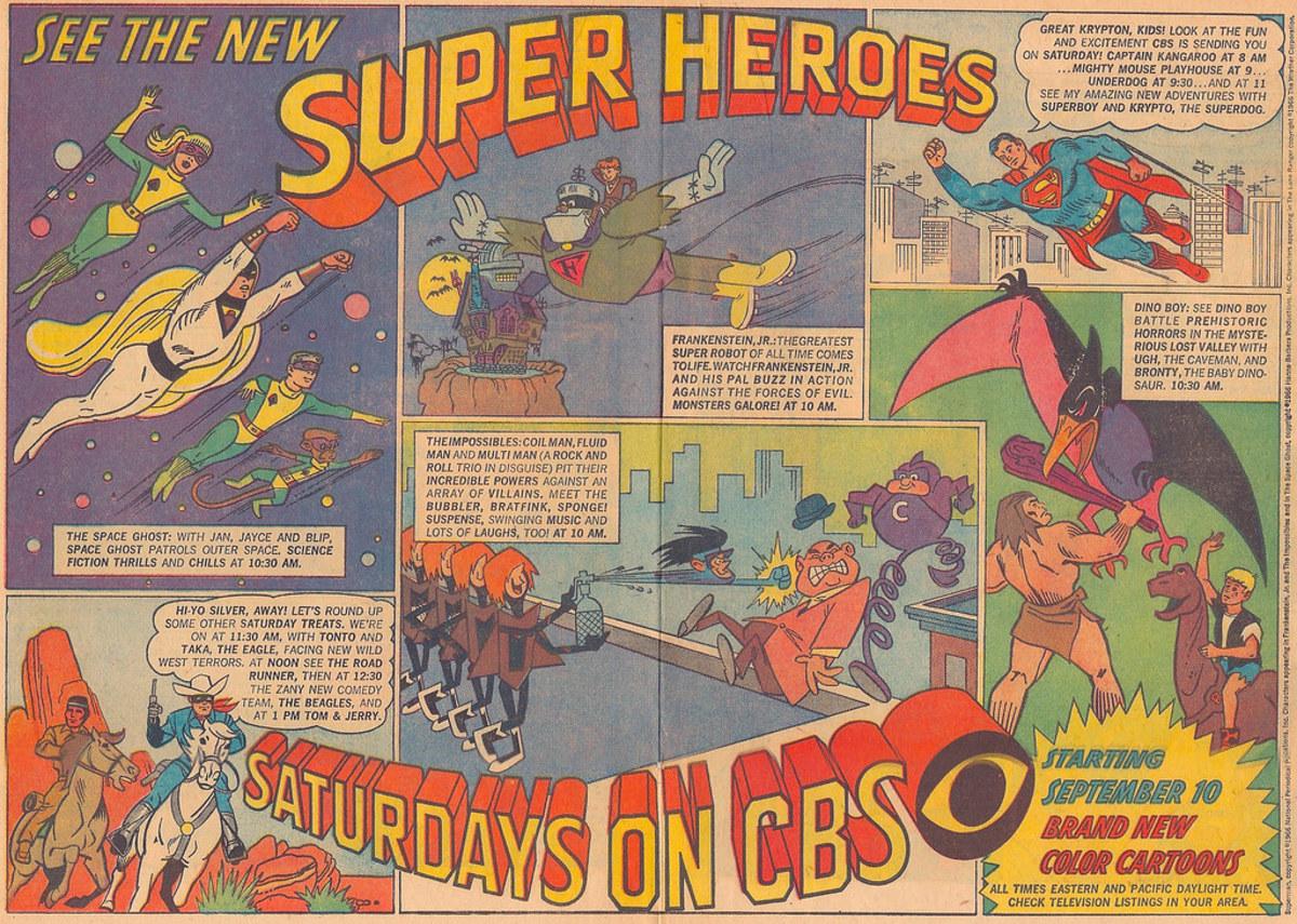 Space Ghost premiered in September 1966 alongside several other superhero cartoons.