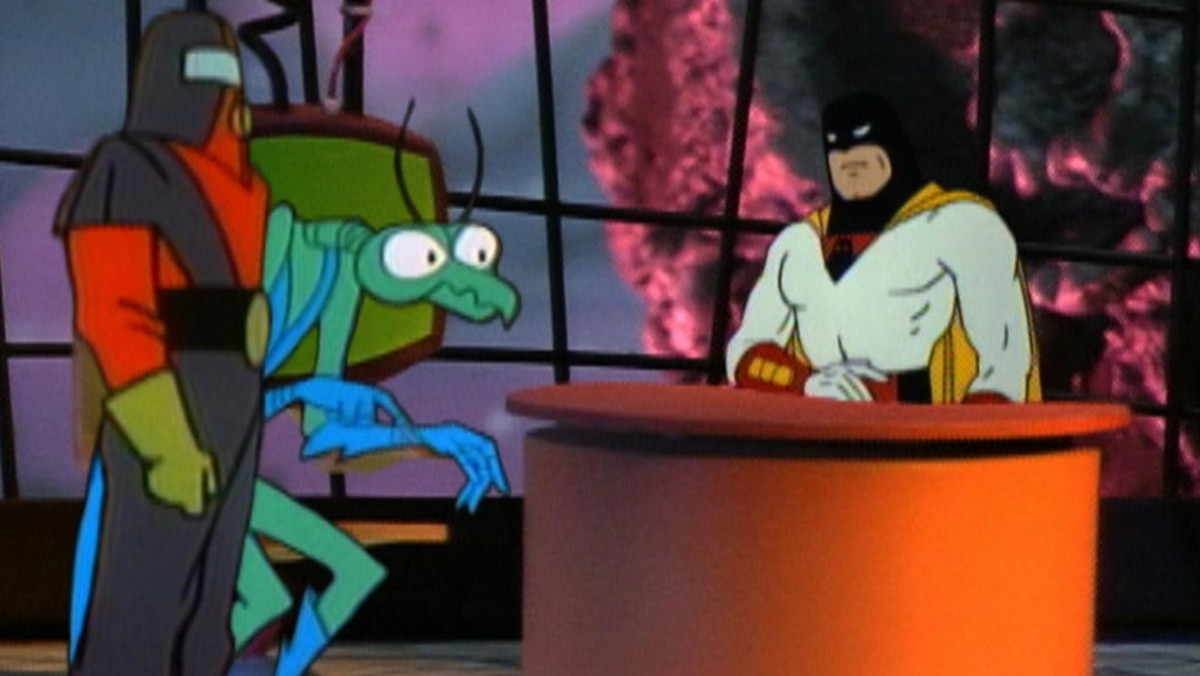 "Space Ghost is perhaps best known to modern audiences as a talk show host thanks to Cartoon Network/Adult Swim's ""Space Ghost: Coast to Coast:."