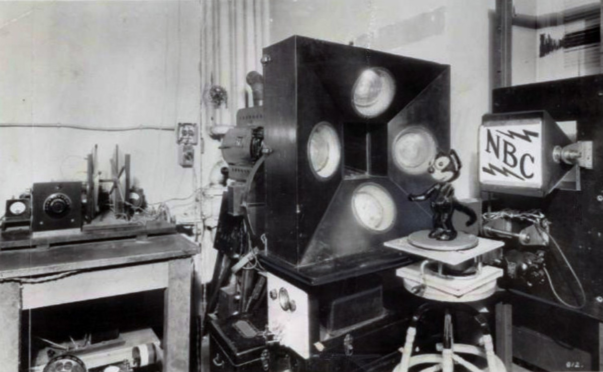 Felix was actually the very first TV star, albeit in statue form, during a series of test broadcasts in 1928.
