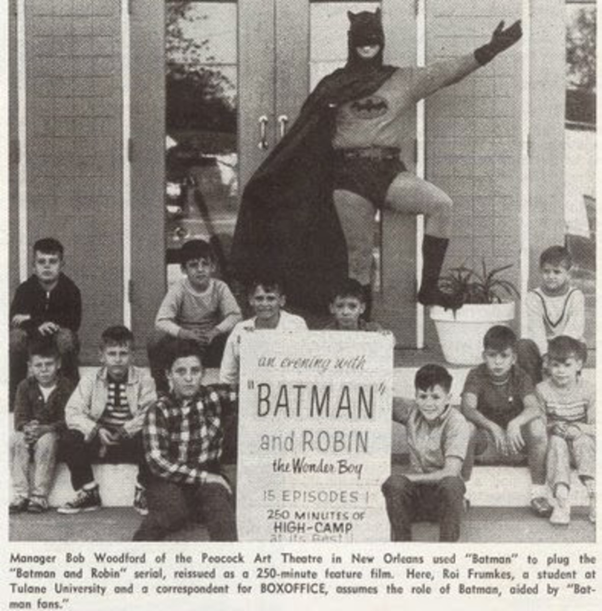 """A photo taken at a showing of """"An Evening with Batman and Robin"""""""