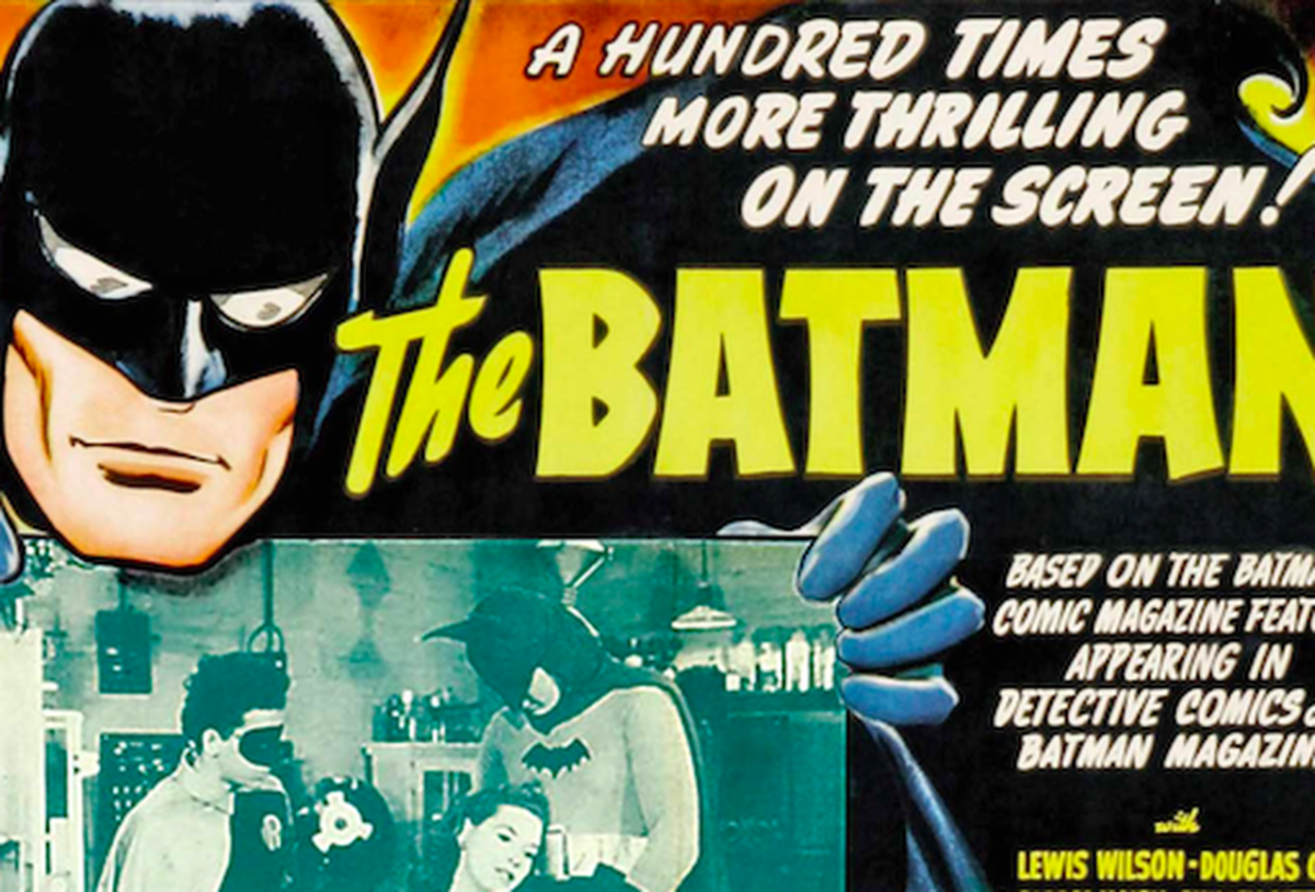 While he didn't appear in animation until the 60s, Batman's history in film goes back to a 1943 film serial.