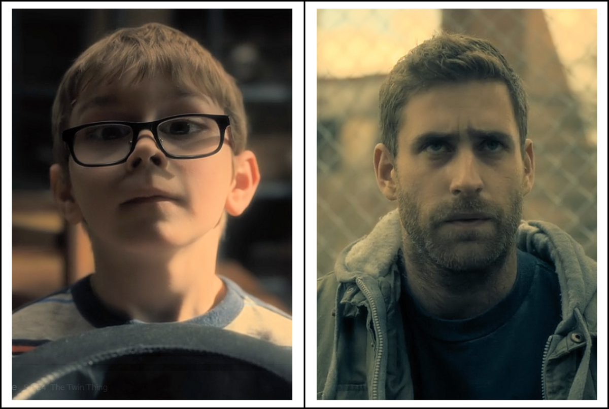 Julian Hilliard and Oliver Jackson-Cohen as Luke Crain in 'The Haunting of Hill House' season 1 (2018), a Netflix Original Series.