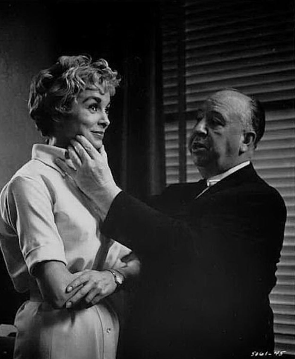 Hitchcock's (right) direction combined with Bernard Hermann's iconic film score make the film the ultimate chiller