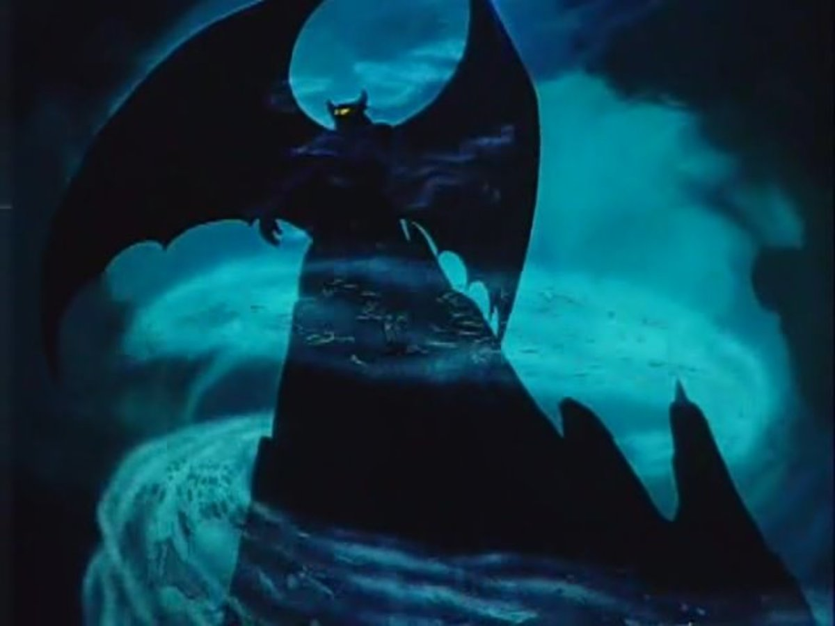 The animation to 'Night On Bald Mountain' is truly the stuff of nightmares, showing Disney at his absolute darkest.