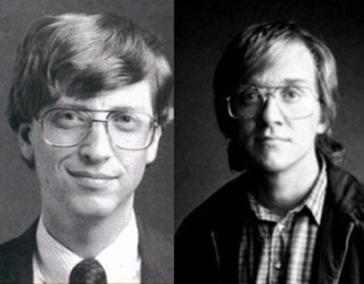 Bill Gates and Anthony Michael Hall © Microsoft and TNT