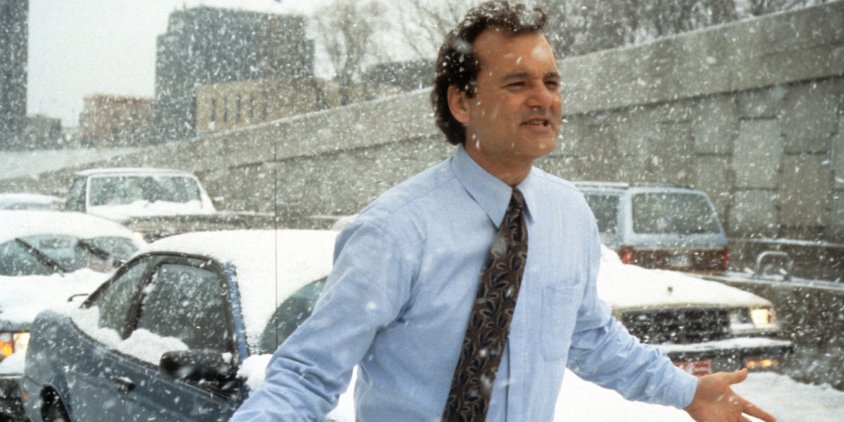 Murray has never been better as grumpy cynical weatherman Phil Connors, the unwitting victim of a mysterious time-loop.