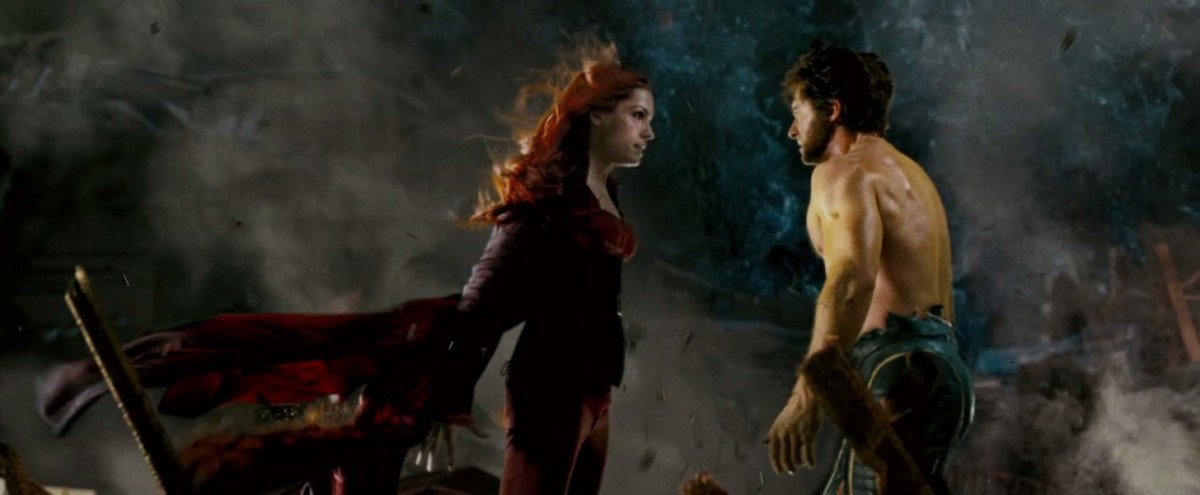 The film shifts its focus from Jackman's Wolverine (right) to Janssen's Jean Grey (centre) which also might not sit well with fans used to the angriest Canadian in the world.