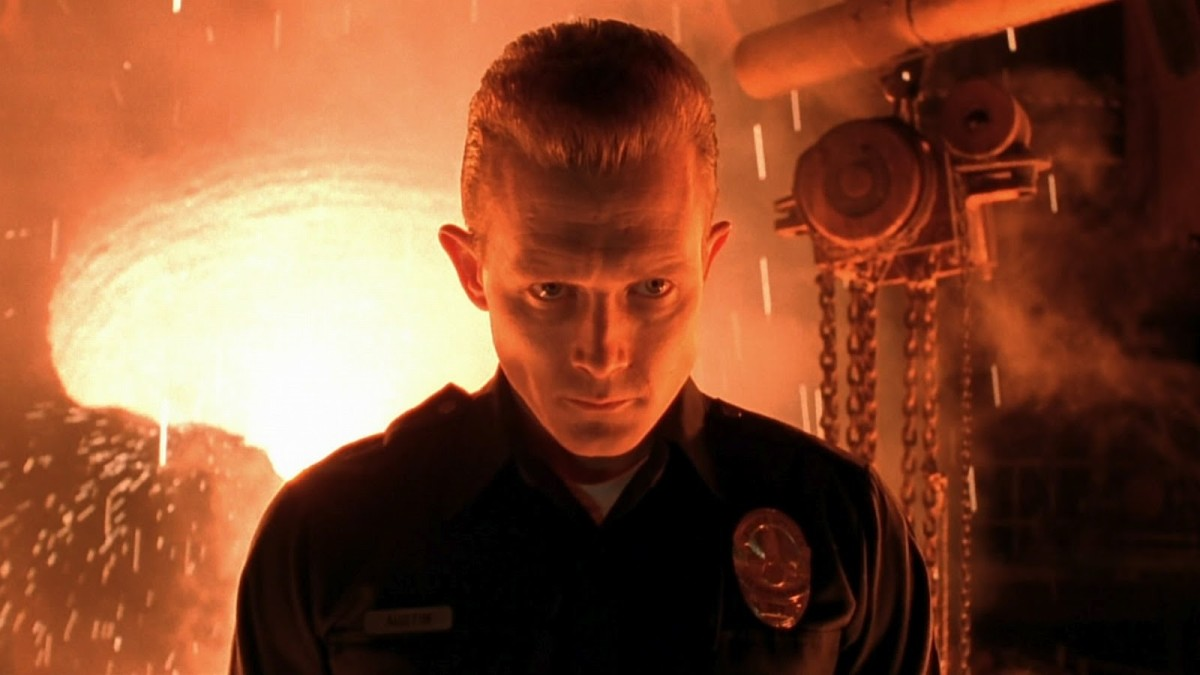Patrick's T-1000 is a classy and surprisingly decent foil for Schwarzenegger