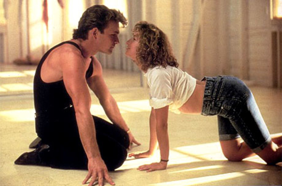 The chemistry between Swayze (left) and Grey (right) is palpable and gives the film a real boost