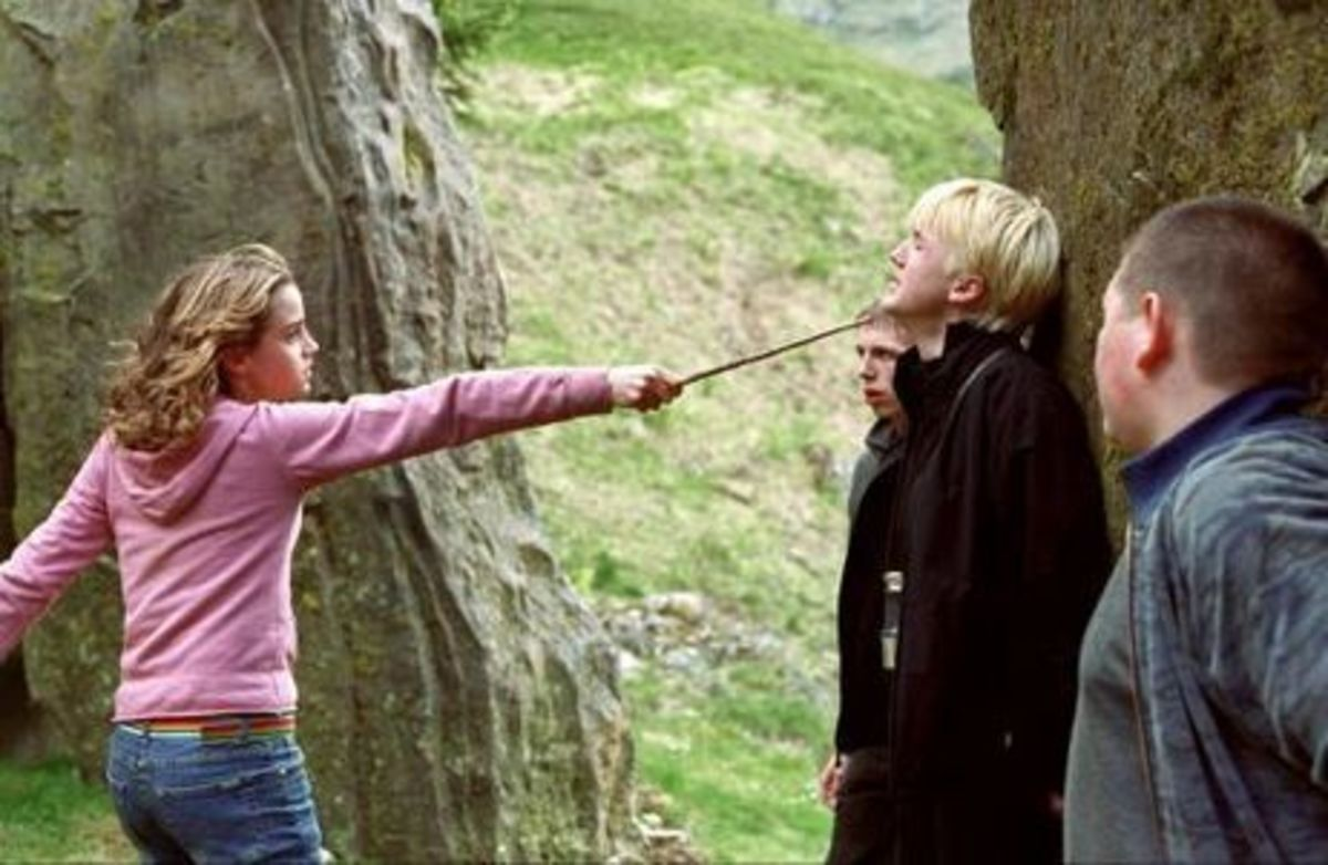 Hermione finally snaps at Malfoy and about time too...