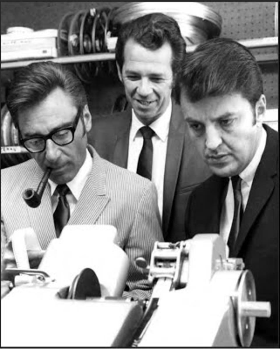 Filmation co-founders Norm Prescott, Hal Sutherland, and Lou Scheimer in 1965
