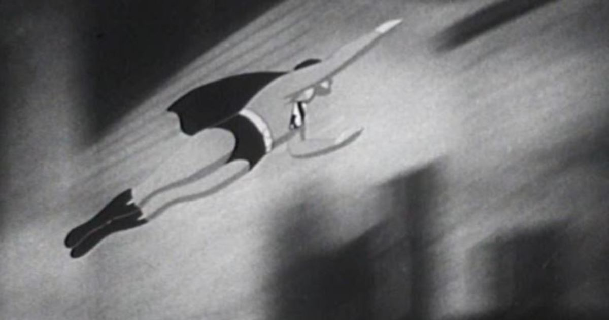 Animation was also used in the Superman film serials between 1948 and 1950 to help depict flight