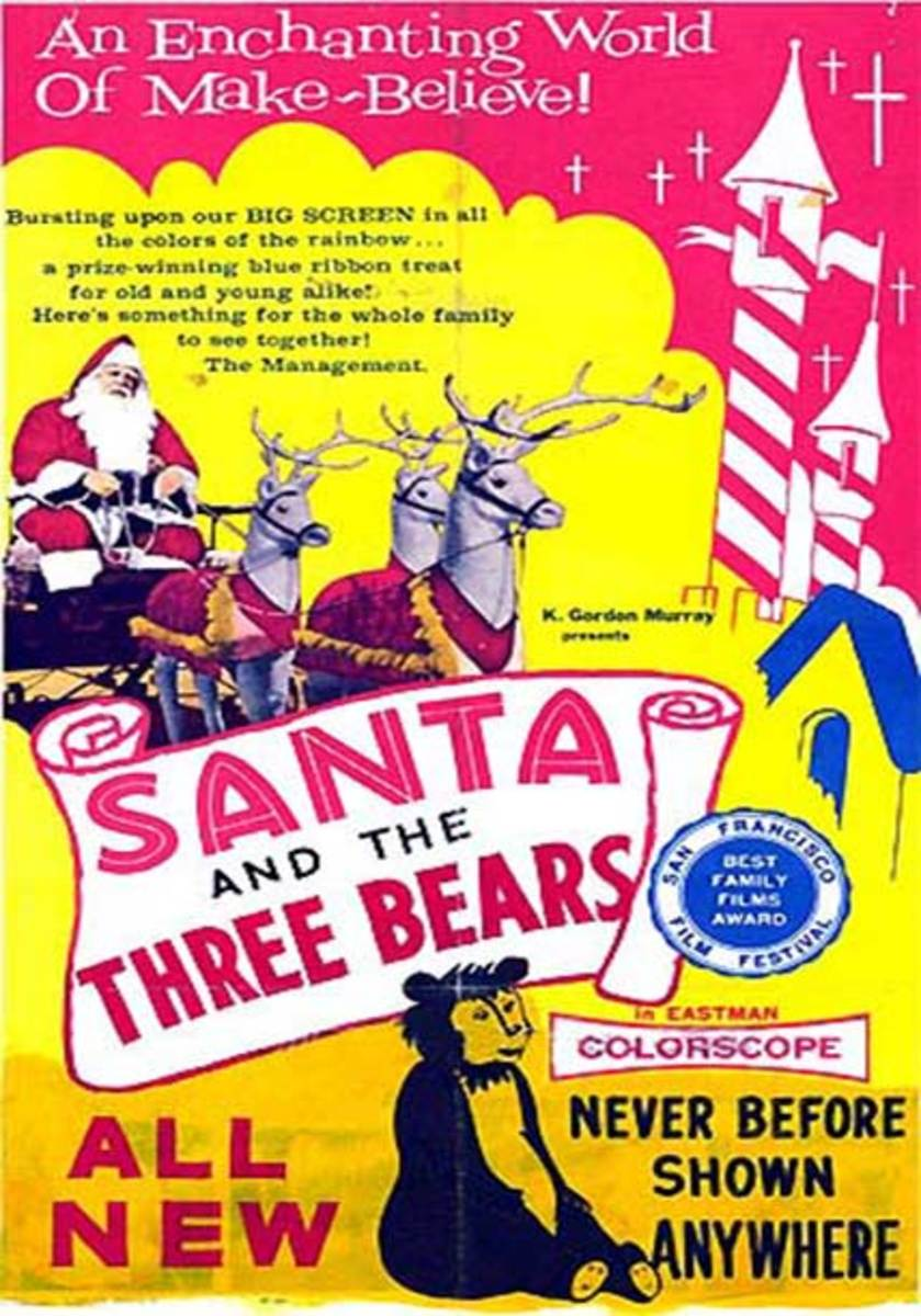 "Poster for the theatrical release of ""Santa and the Three Bears"""