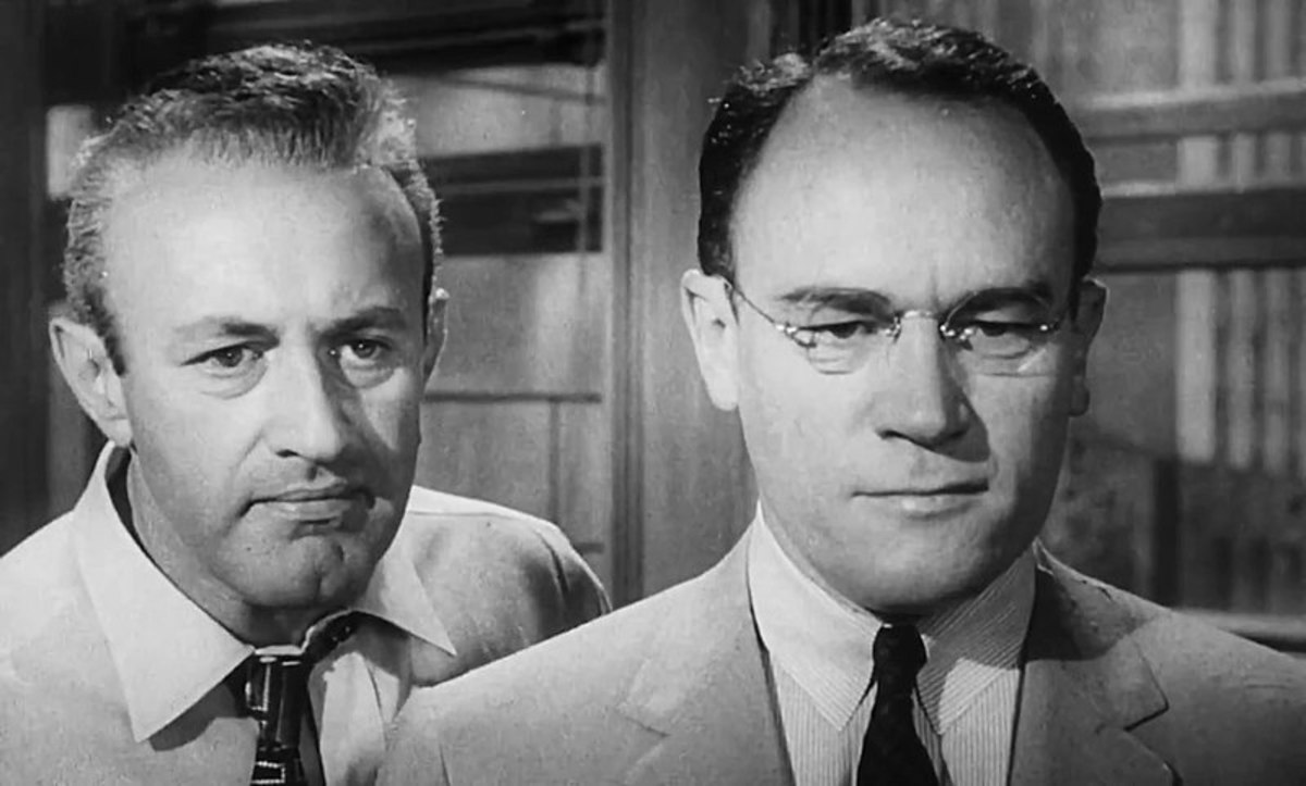 Opposite Fonda's open-mindedness, Cobb (left) is the perfect foil - being bad-tempered, prejudiced and determined.