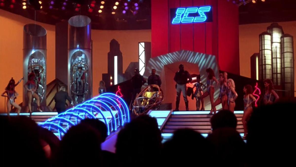 The film is unashamedly Eighties in tone but the setting and narrative make it feel eerily prescient in these days of 'reality TV' and combative game shows.