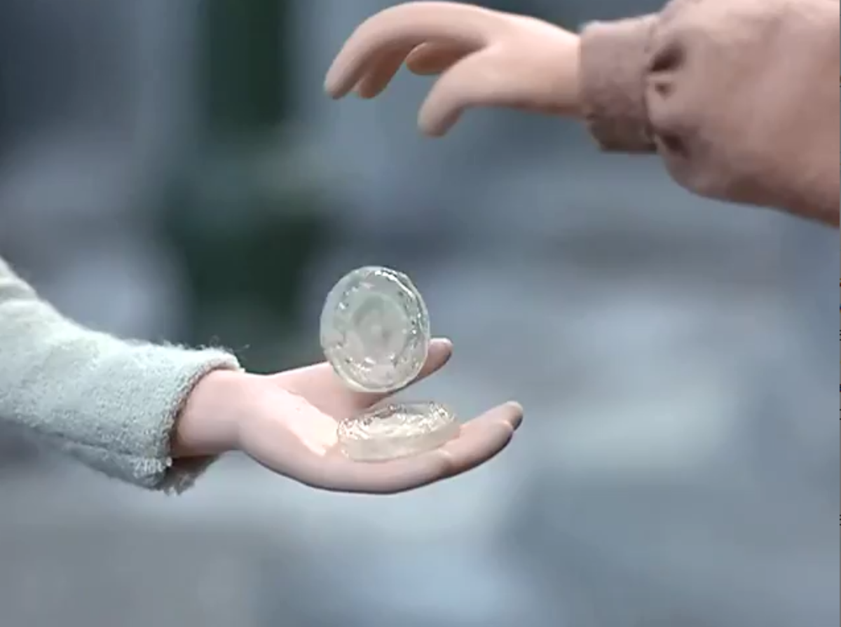 The ice coin currency used by the people of January Junction in lieu of real money.