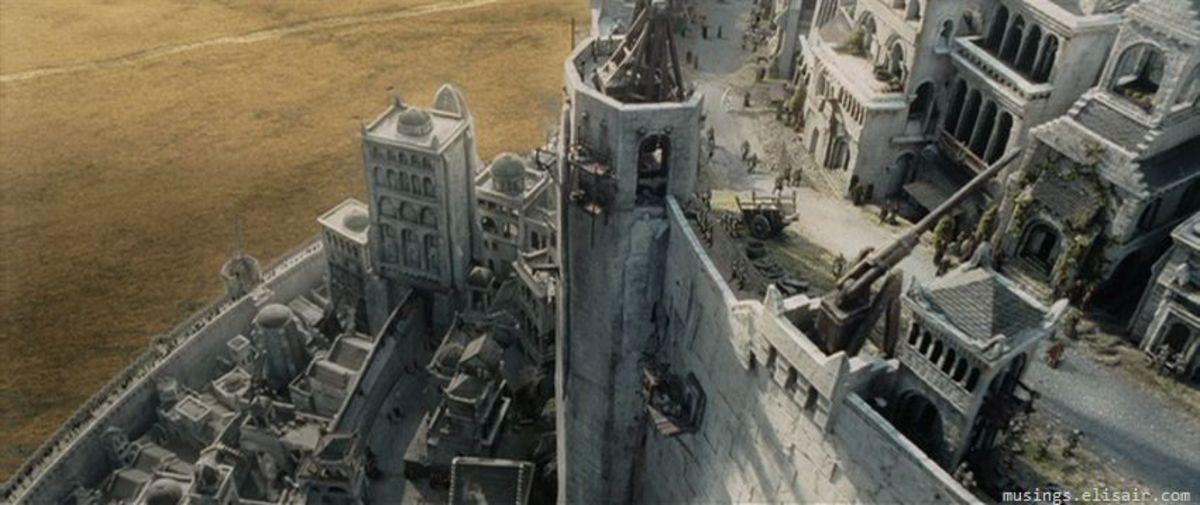 The city of Minas Tirith. The effects in the film are truly staggering.