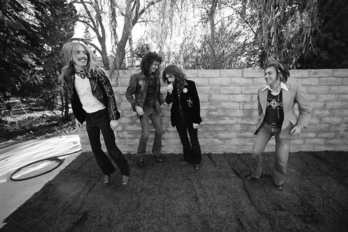 Despite its exhaustive coverage of the band and its forefather Mudcrutch (seen here), the film essentially records the friendship between Tom, Mike, Benmont and Ron over the same time frame.