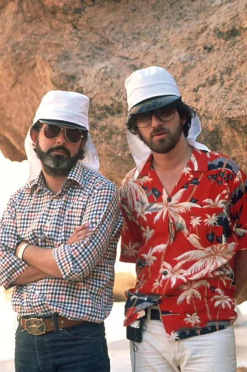 The film illustrates what happens when the creative genius of George Lucas (left) and Steven Spielberg (right) get together