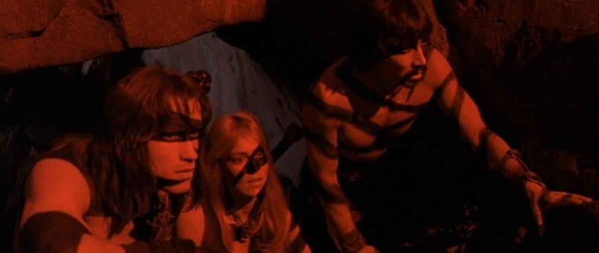 Bergman (centre) impresses as Valeria and even has a rare love scene with the Governator