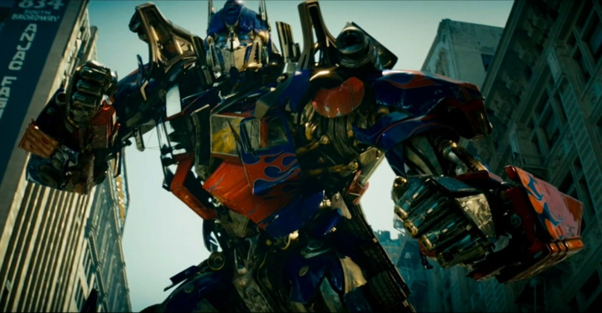 Optimus Prime, like all the robots, looks incredibly detailed and oddly believable close-up.
