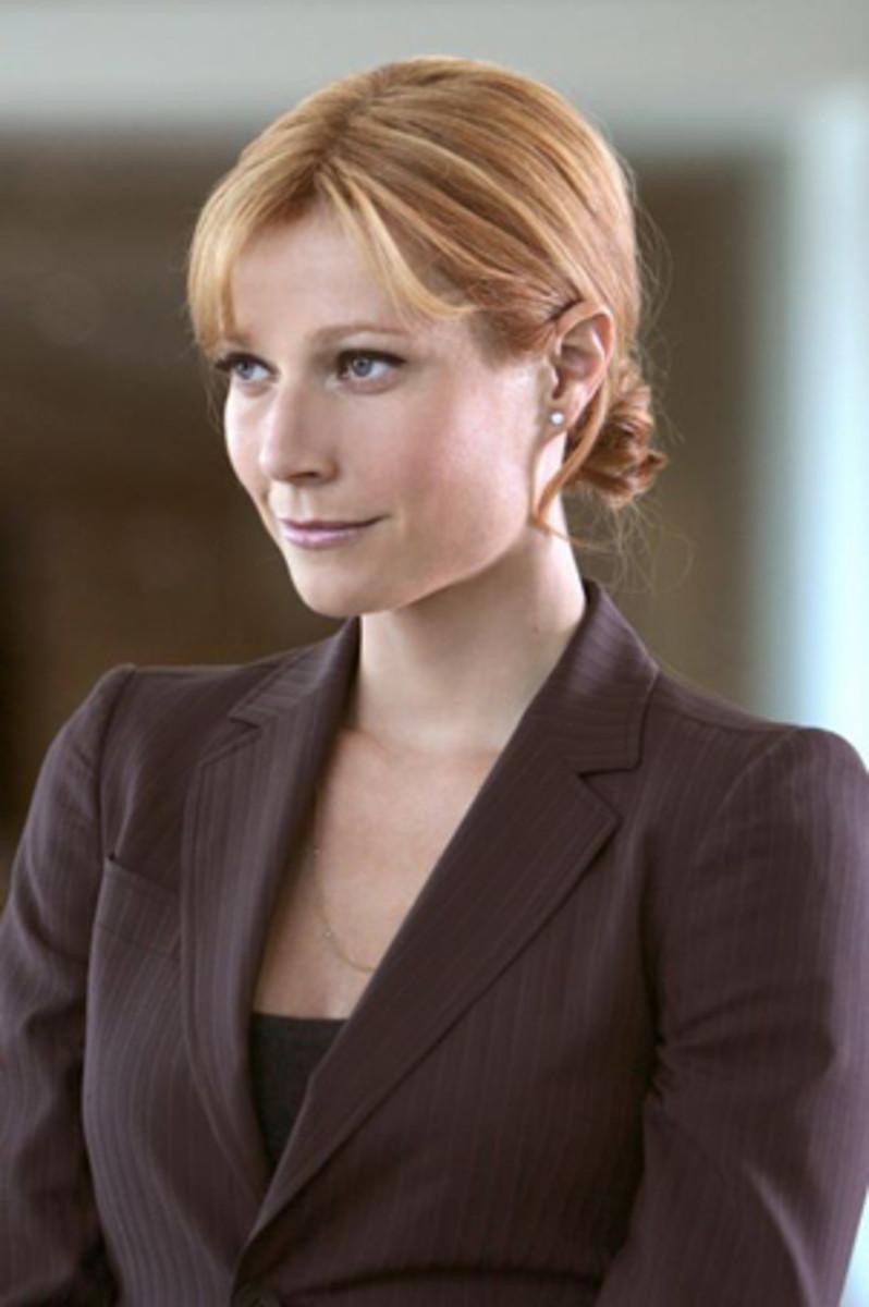 Paltrow stars as the no-nonsense secretary Pepper Potts