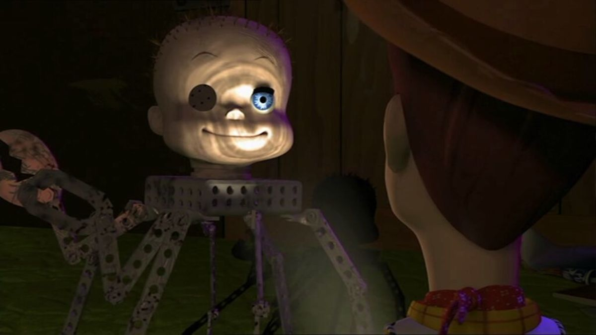It's easy to forget how genuinely creepy the scenes in Sid's house are...