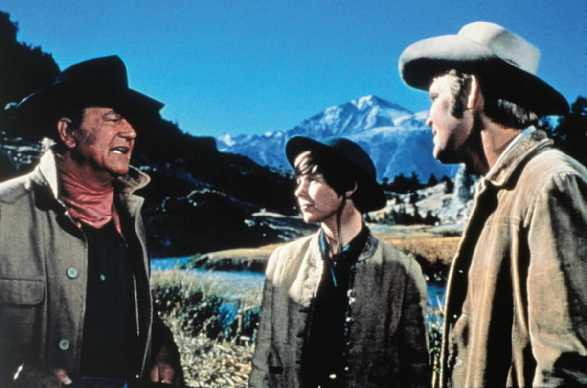 Darby (centre) plays a heroine that's rare from that era, a young woman who isn't afraid of getting stuck in with the men.