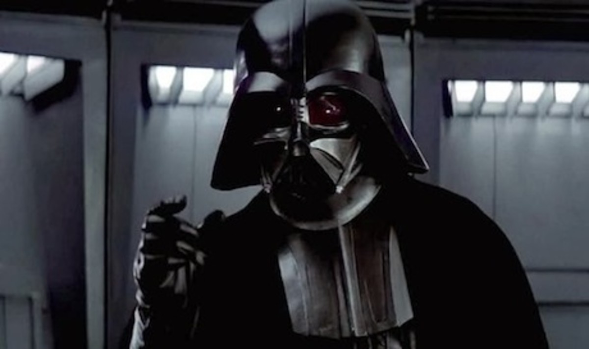 The glint in Vader's eyes made him as scary as he's ever been here...