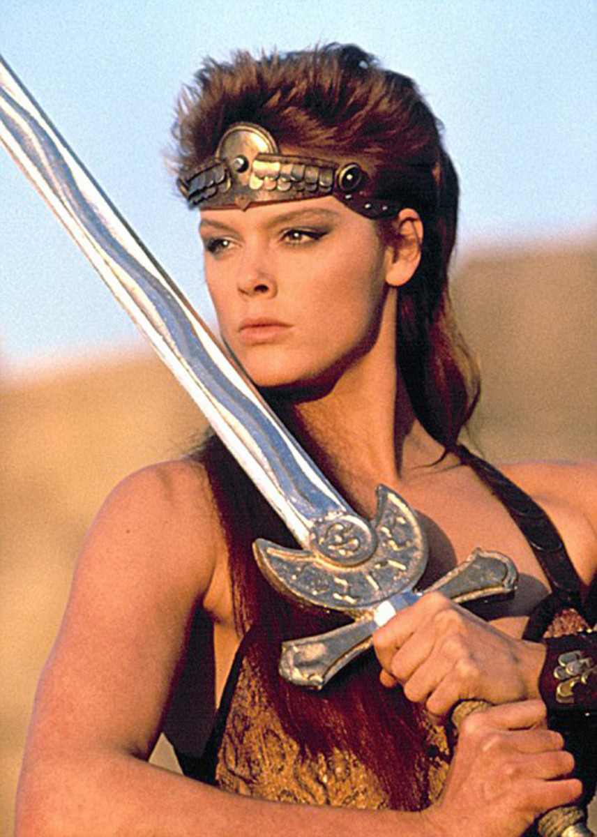 Nielsen may look the part but her prop sword is more emotive than she is