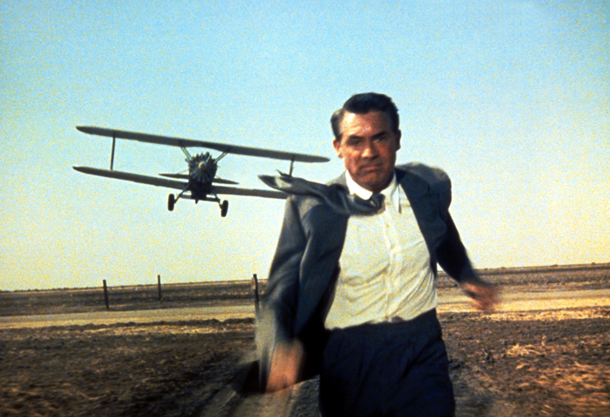The iconic crop-duster sequence is a masterpiece - devoid of dialogue and music, it's utterly thrilling and incredibly tense.