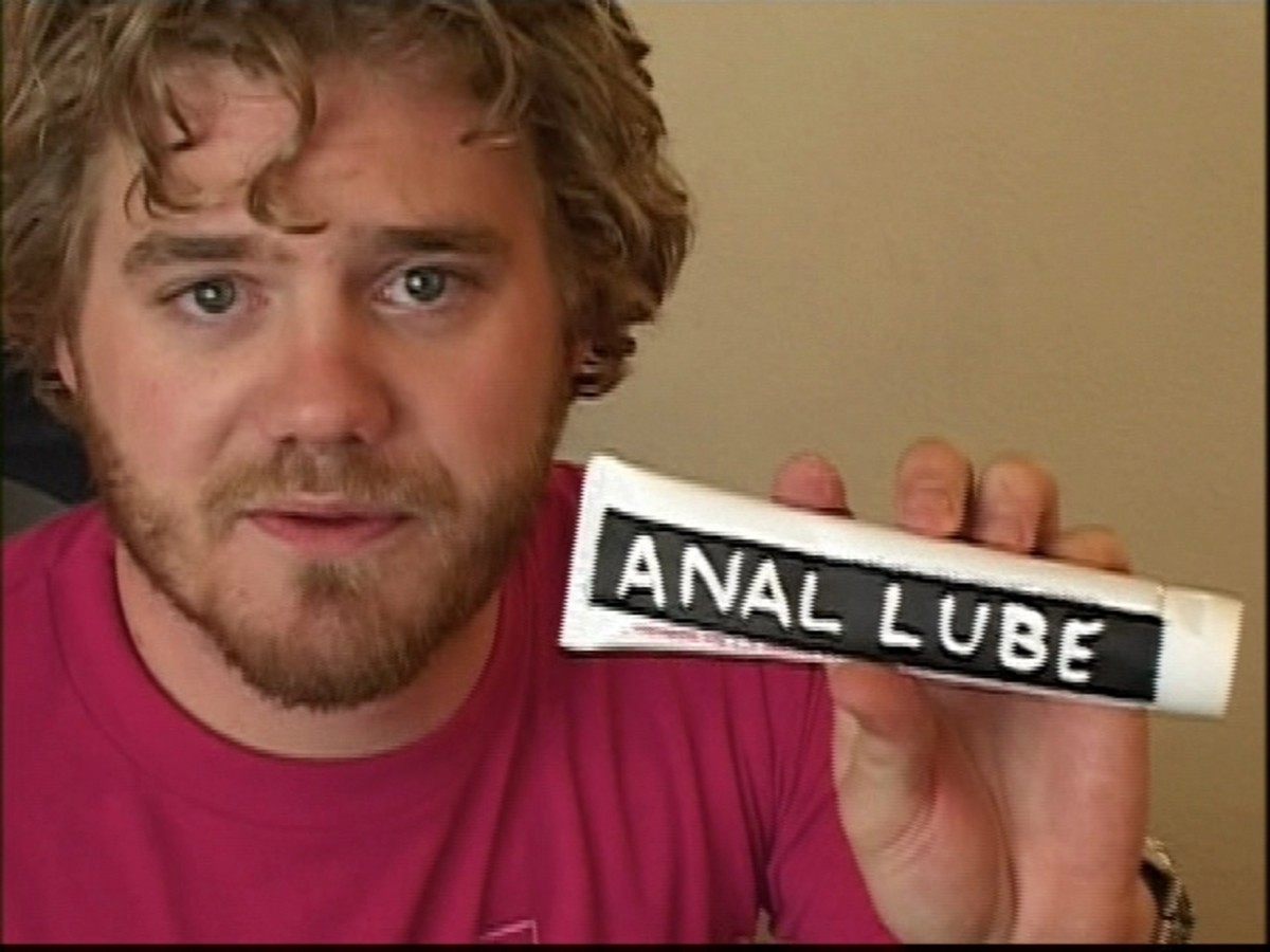 Ryan Dunn before one of the film's more infamous skits. Hopefully, the last time I'll have anal lube on my website!
