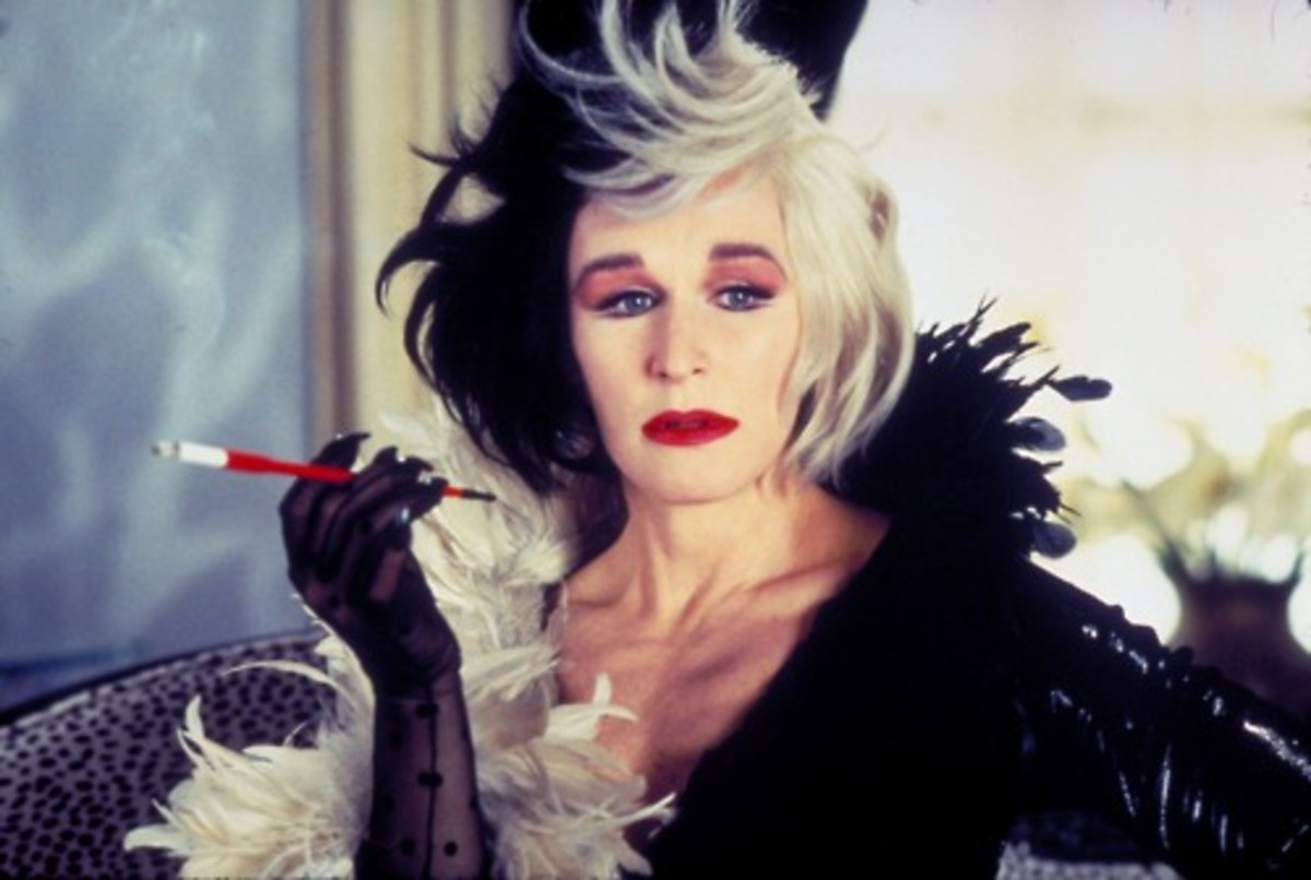 Close's Cruella De Vil is a perfect recreation and one that's unforgettable...