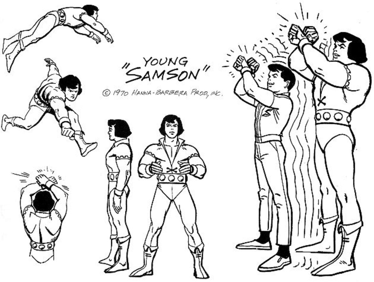 Young Samson production art by Alex Toth