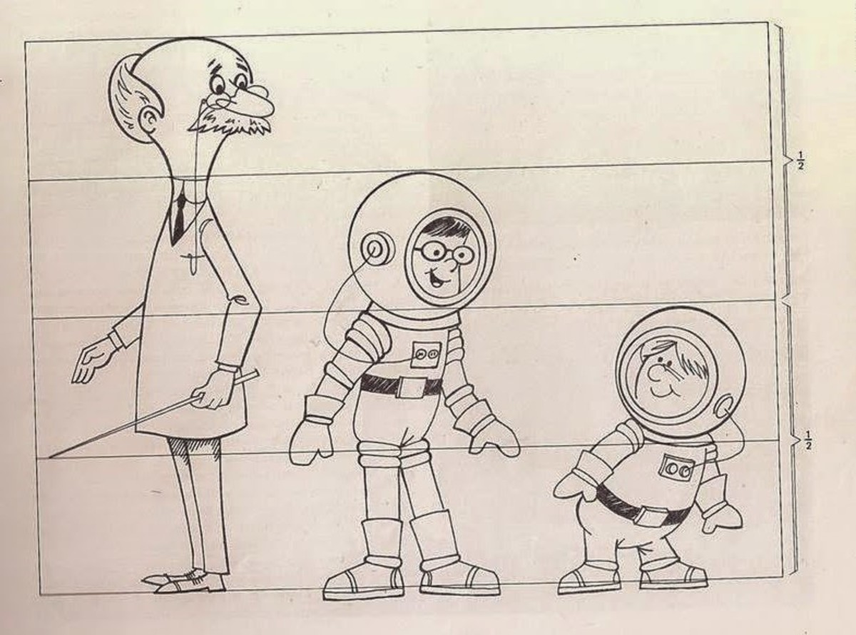 Character sheet of Professor Argus, Rod Rocket, and Joey