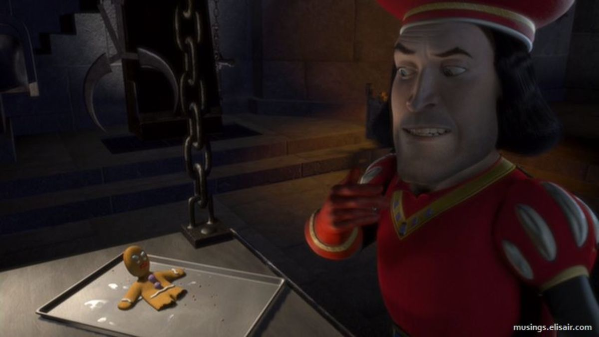 Lithgow's Lord Farquaad is a thoroughly unlikeable baddie but also illustrates the film's depth of character and spearheads the film's parody of other fairy-tale pictures.