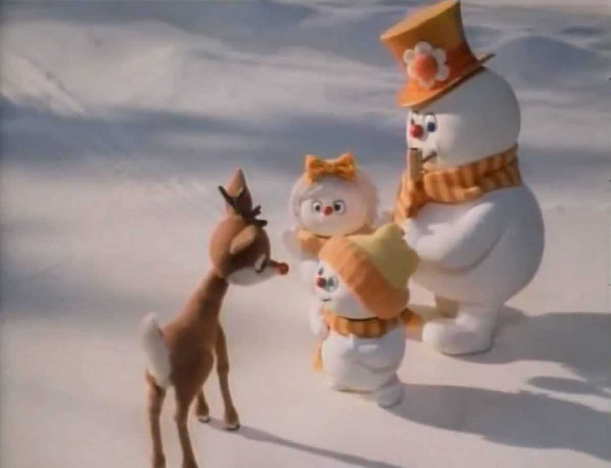 Rudolph, Frosty, Milly, and Chilly