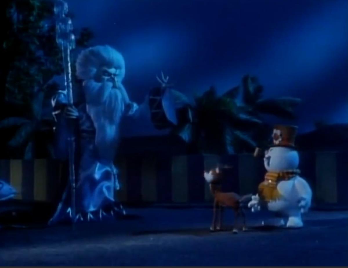 Winterbolt giving Rudolph an ultimatum.