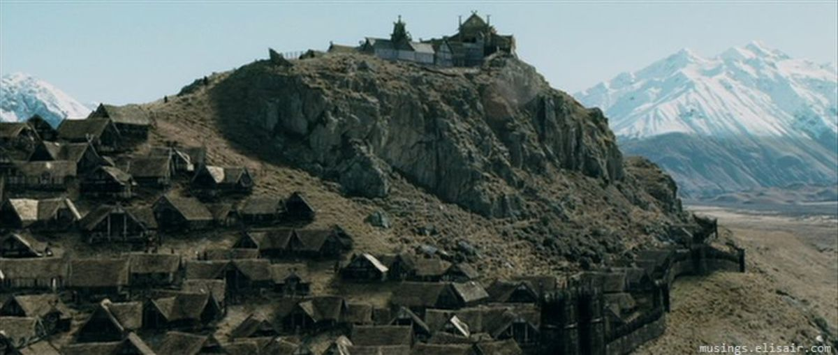 """Rohan's capital Edoras as seen in """"The Lord Of The Rings: The Two Towers"""""""