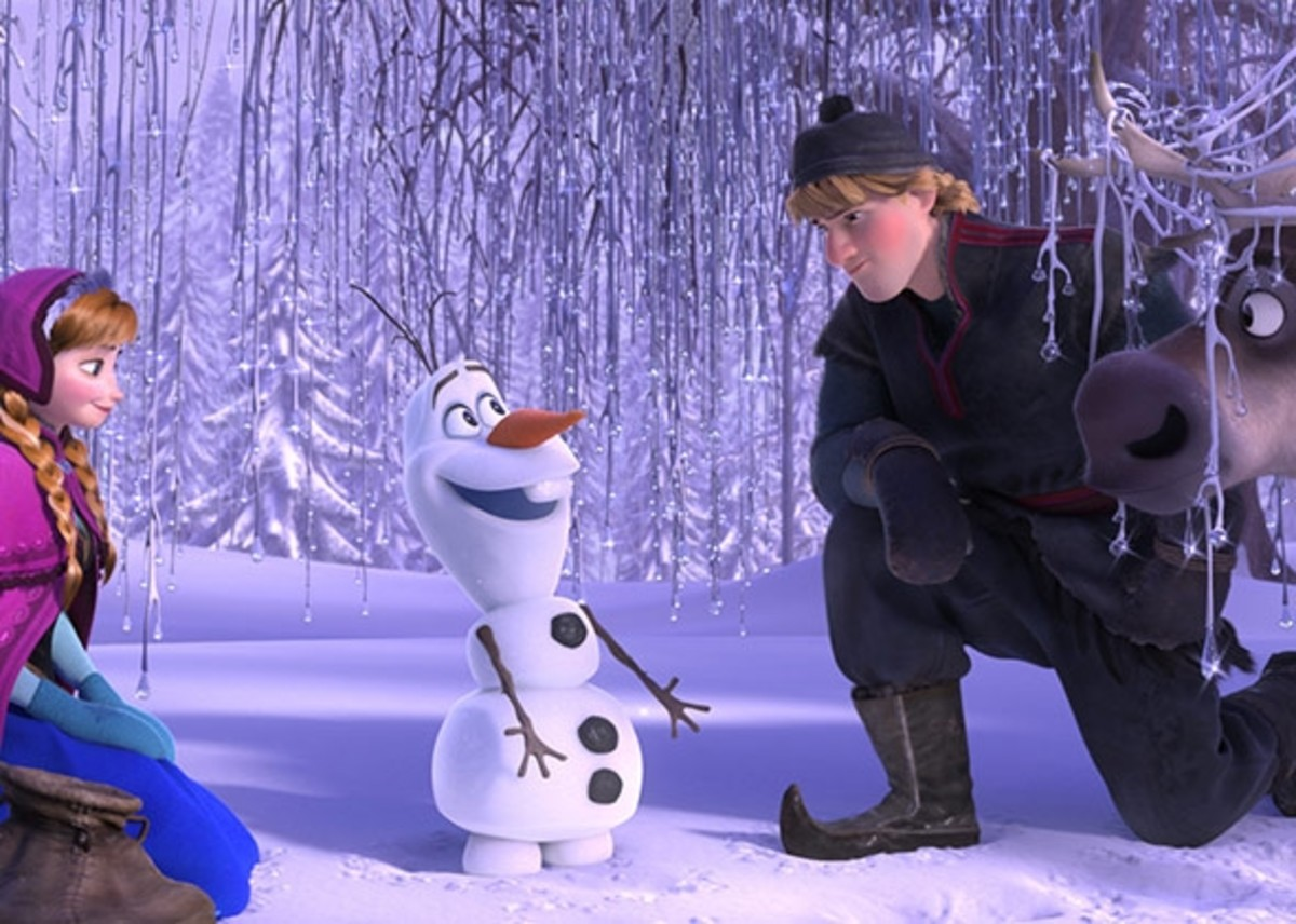 Most of the comedy is provided by magical snowman Olaf, voiced by Josh Gad.