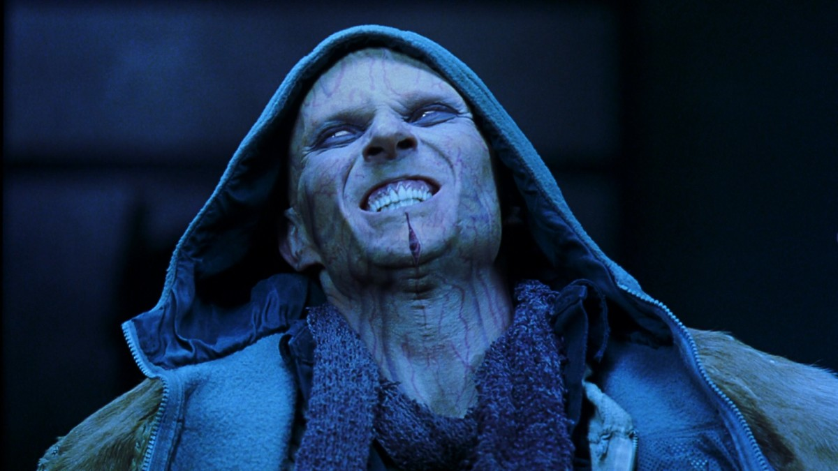 Goss is unrecognisable beneath the makeup but his mega-mandible bad guy lacks motivation.