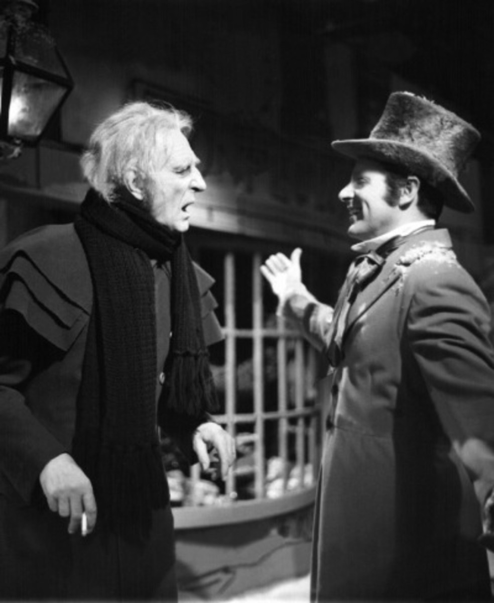 The original 1956 production, with Basil Rathbone as Scrooge