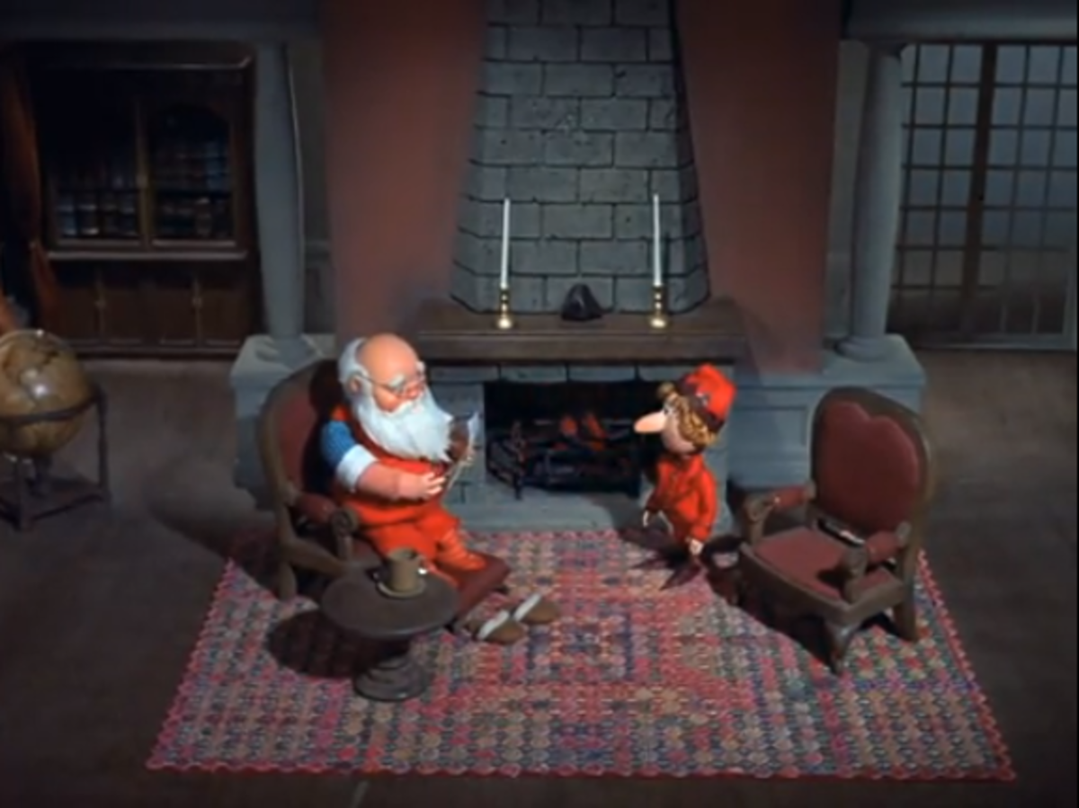 Santa receives a letter from Father Time